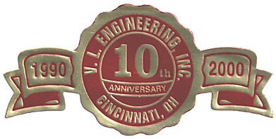 V.L. Engineering, Inc., 10th anniversary ribbon
